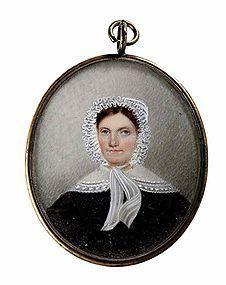 Striking Miniature Painting of Woman  c1810