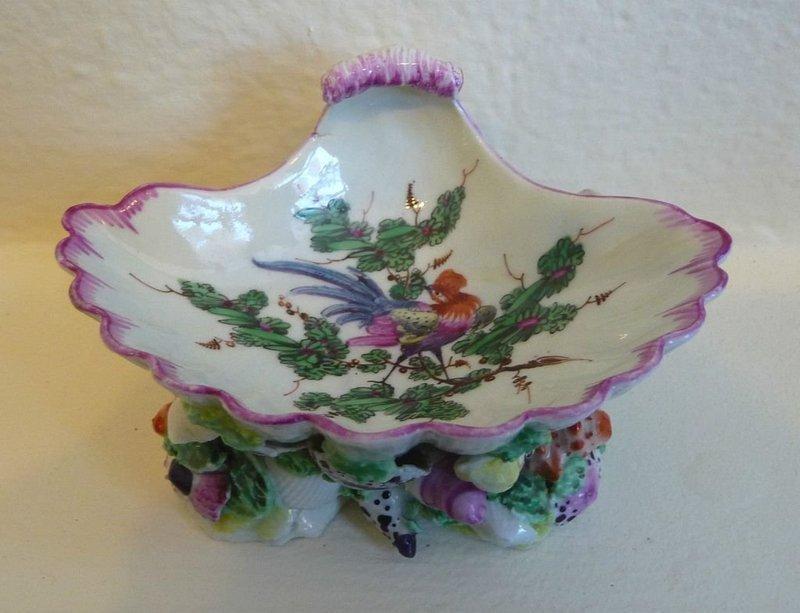 Uncommon Worcester Porcelain First Period Salt c1768