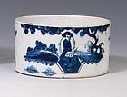 Rare Bow Porcelain  Wine Coaster or Meat Dish c1758