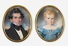 Two Incredible Miniatures by Hugh Bridport c1835