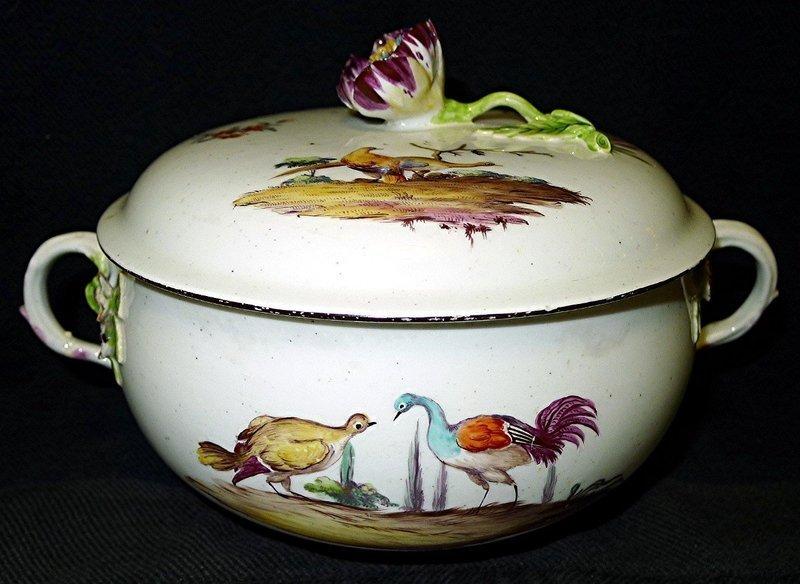 Rare Chelsea Porcelain Ecuelle c 1755
