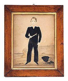 Young Naval Boy Watercolor c1820