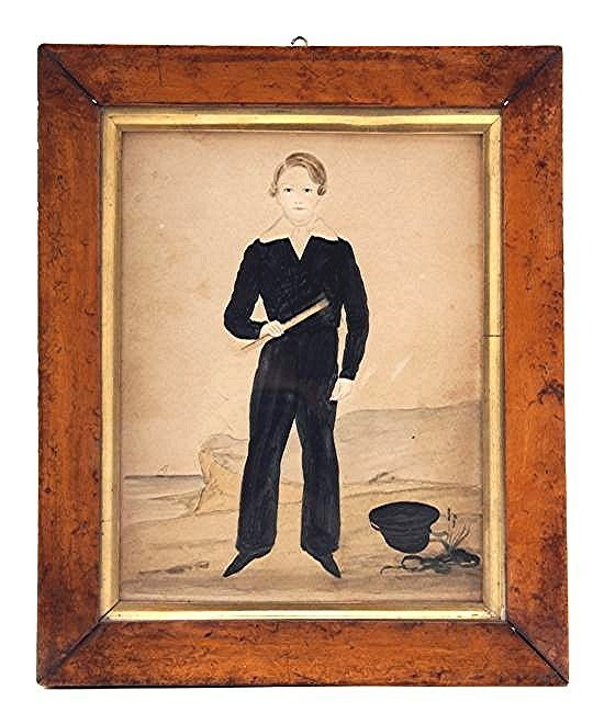 Young Naval Boy Watercolor c1820