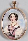 Johannes Baptista  van Acker Portrait Miniature c1830