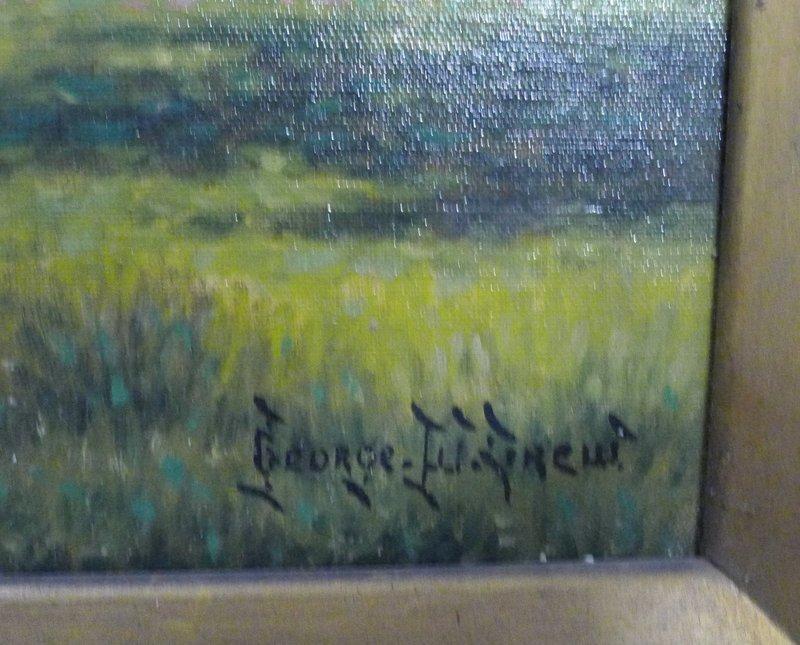 George W. Drew Landscape Painting c1910