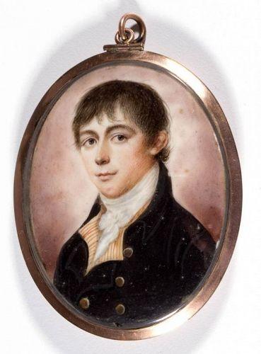 Thomas Peat Miniature Portrait  c1798