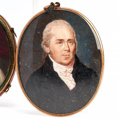 A Fine Miniature Portrait of a Gent c1820