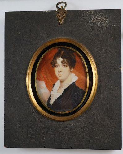 Rare and Superb Robert Field Portrait Miniature c1805