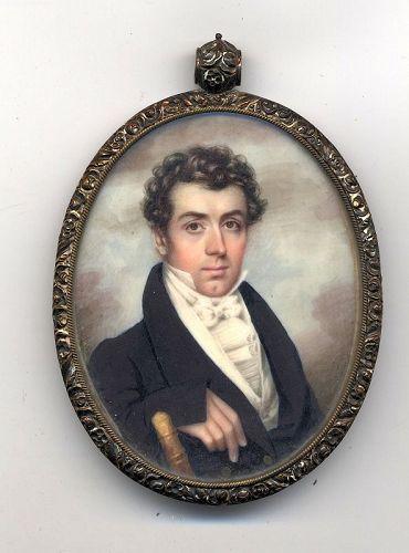 A Superb and Unusual Nathaniel Rogers Portrait Miniature c1820