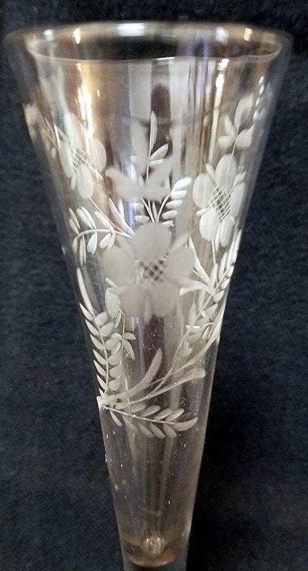 A Fine 18th Century English  Ratafia Glass c1750