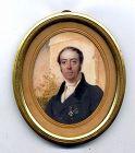 Simon Jacques Rochard Miniature Portrait c1815