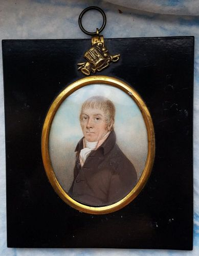 Miniature Painting of a Gentleman c1800