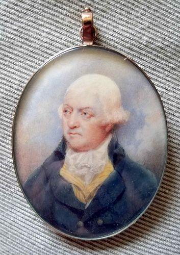 A Fine William Grimaldi (att.) Portrait Miniature c1790