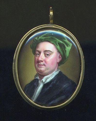 William Prewett Important Miniature Portrait c 1745