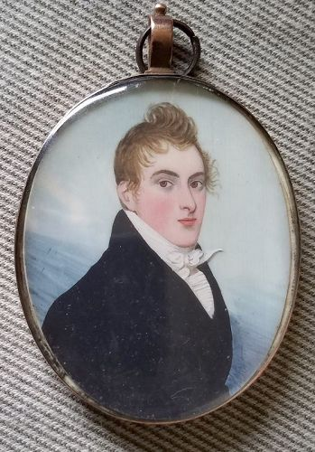 Double Sided Frederick Buck Miniature c1800
