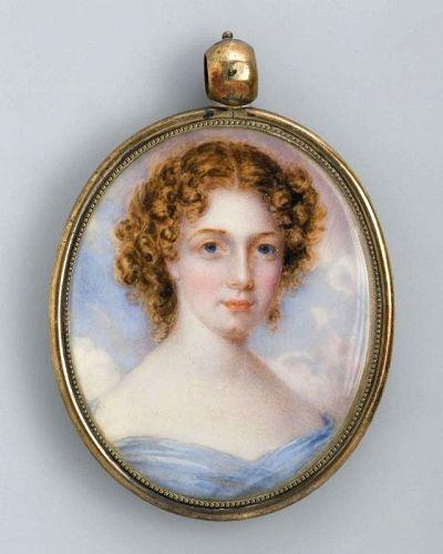 Anna Claypoole Peale Portrait Miniature of a Young Woman  c1830