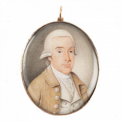 Alexander Gallaway Portrait Miniature c1795