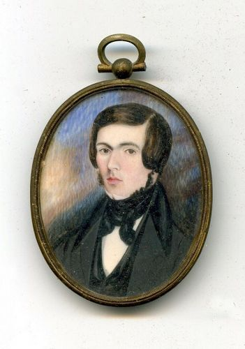 American Miniature Portrait of a Young Man c1825