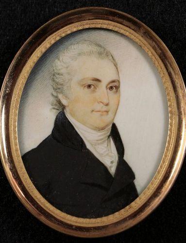 Elkanah Tisdale Miniature Portrait c1800