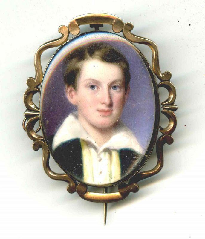William Egley Miniature Portrait c1839