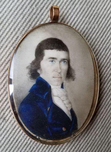 Portrait Miniature by Edward Savage c1790