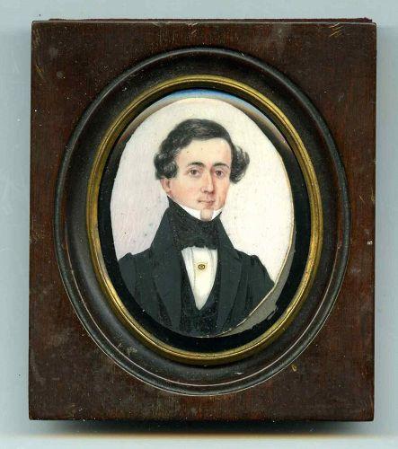 A Portrait Miniature of a Young Gentleman c1835