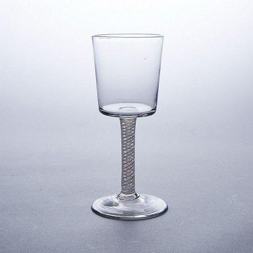A Large English Georgian DSOT Wine Goblet  c1765