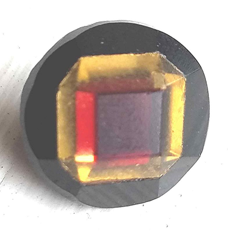 Tinque Button, Black Base with Red and Gold Top  c1855