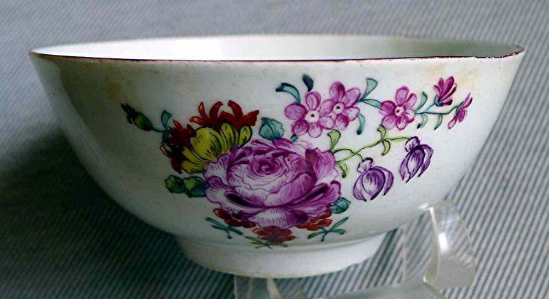 A Fine Longton Hall Porcelain Bowl c1756