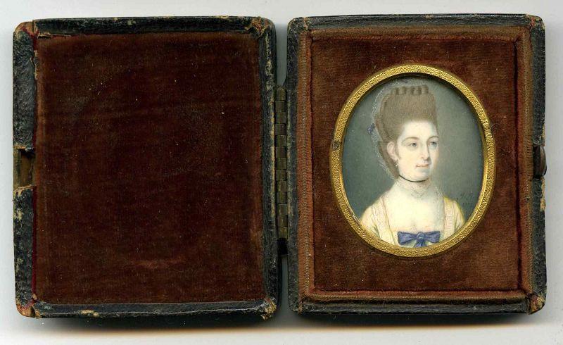James Jennings Miniature Portrait of an Elegant Woman c1772