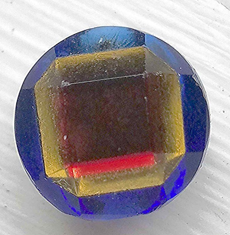 Rare Tingue Button Blue Base c1855