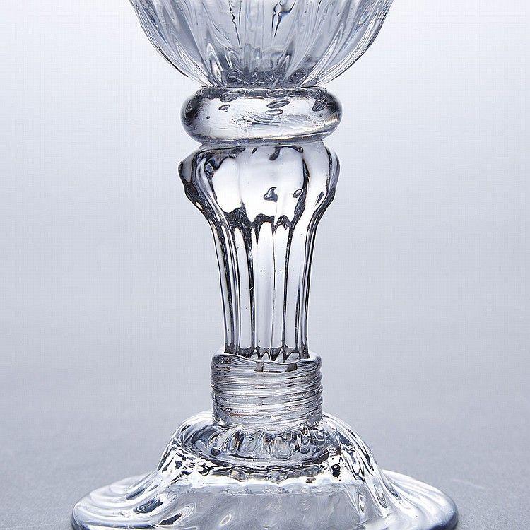 A Striking English Sweetmeat Glass c1745