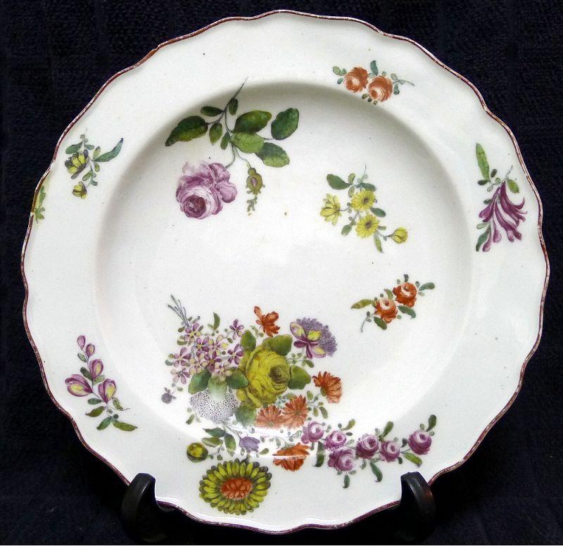 A Fine Chelsea Porcelain Plate c1755