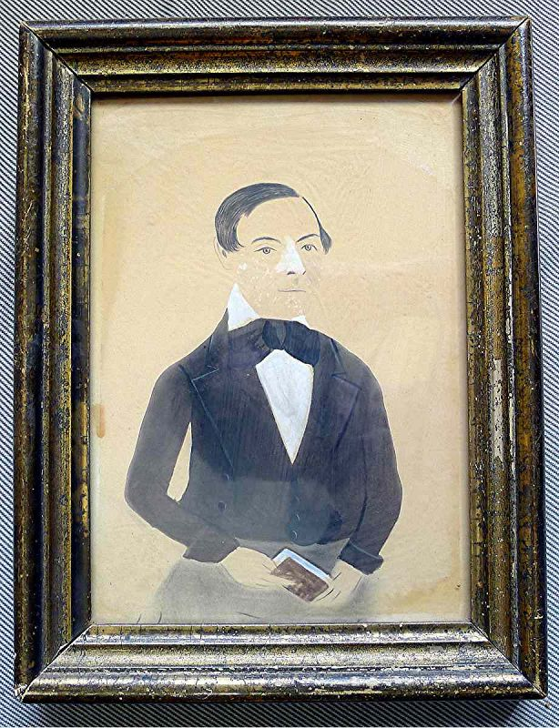 A Jane Anthony Davis Watercolor Portrait c1847-1850