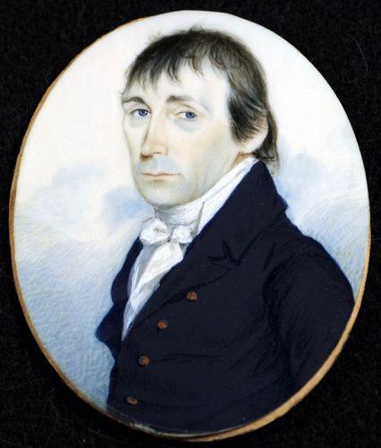 A Superb Portrait Miniature Attrib. to Jeremiah Paul c1805