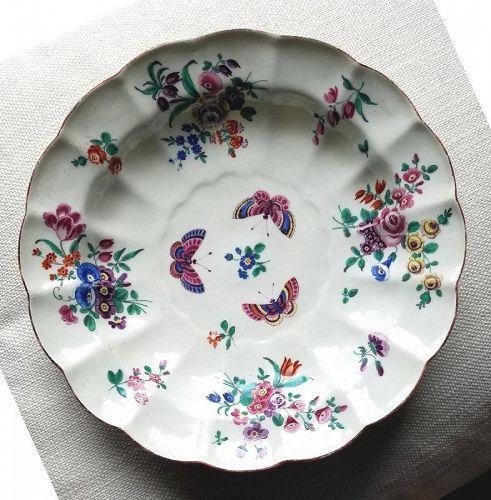 James Giles Dr. Wall Worcester Porcelain Large Dish c1772