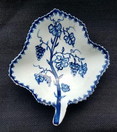 Lowestoft Porcelain Pickle Leaf Dish c1766