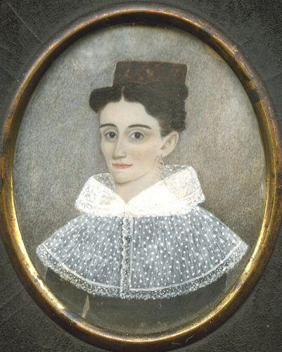 Augustus Fuller Miniature Portrait c1835
