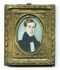 George W. Newcombe Portrait Miniature c1835