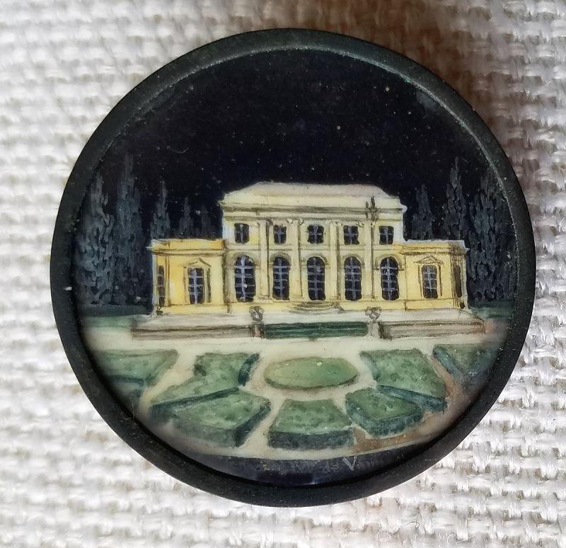 A Fine French Scenic 18th Century Button