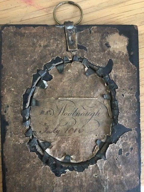Signed R.C. Woolnough Miniature Portrait c1816