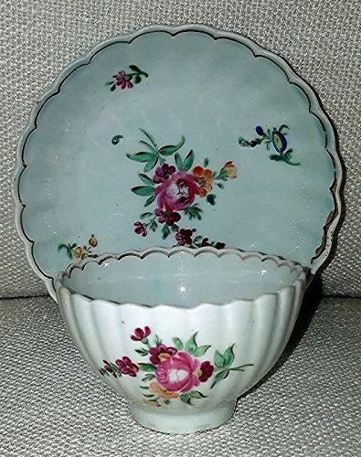 A Liverpool Porcelain Tea Bowl and Saucer c1780