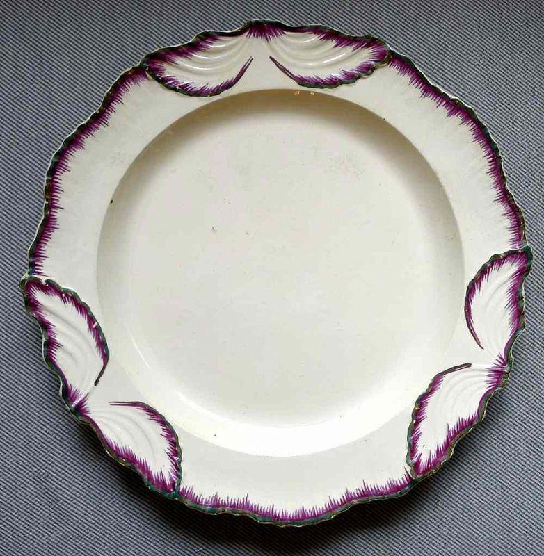A Rare Leeds Featheredge Plate c1790
