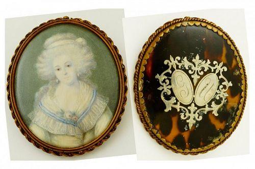 A Beautiful English Miniature Portrait c1785
