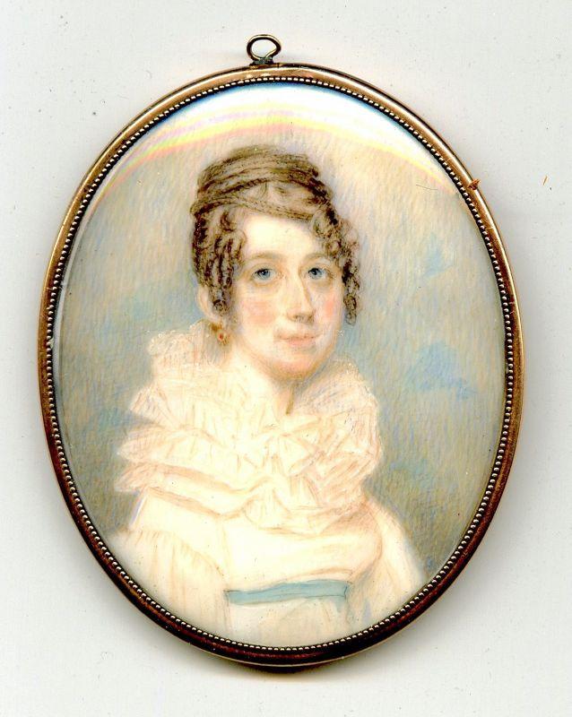 A Fine Benjamin Trott Miniature Portrait c1815