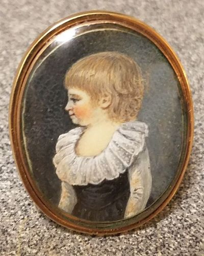 A Wonderful French Portrait Miniature Ring c1790