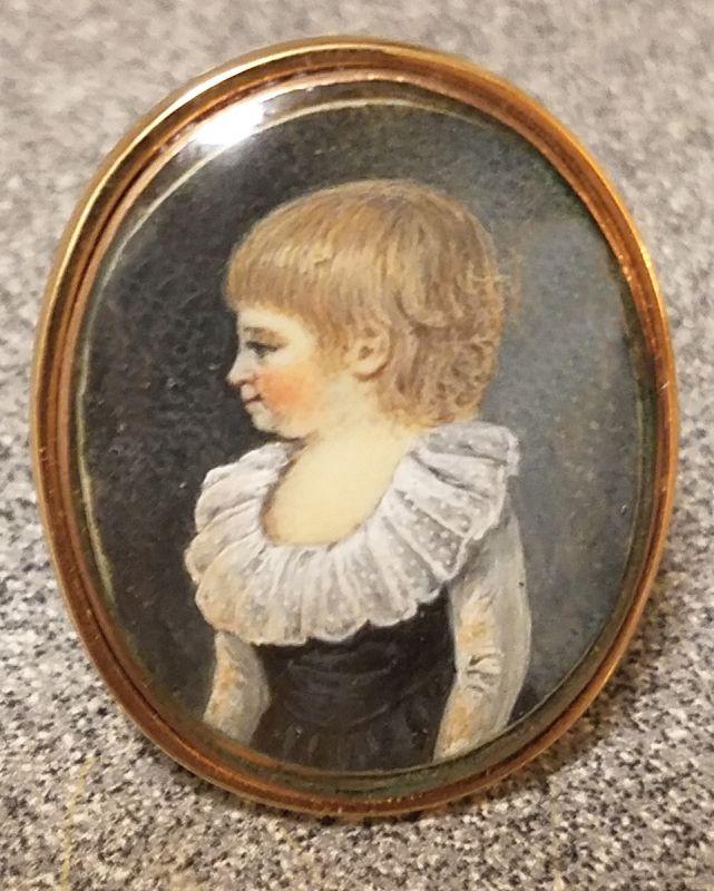 A Wonderful French Portrait Miniature Ring c1790