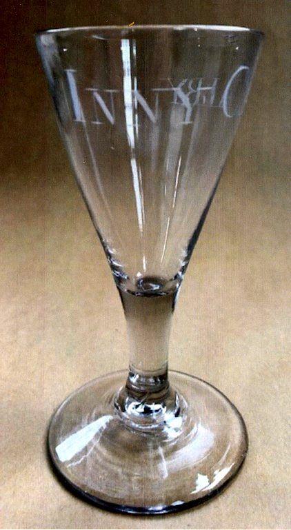 Rare Irish Glass Iniskilling Dragoons c1750