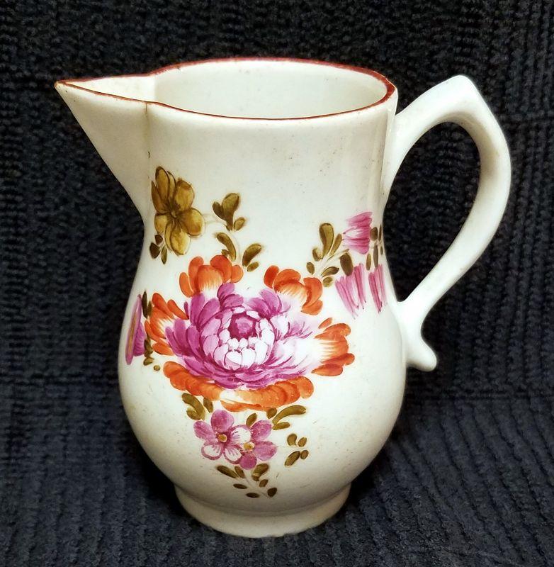 A Fine Longton Hall Porcelain Creamer c1756