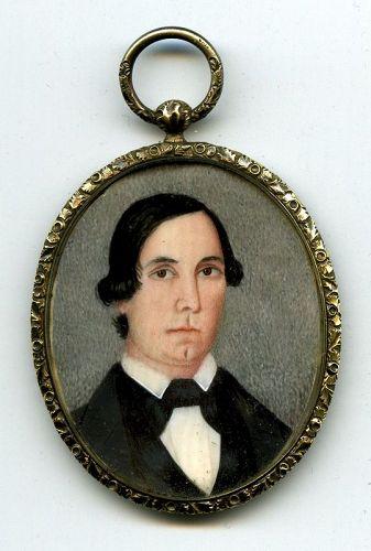 Rare M.E. Mynerts Portrait Miniature c1838